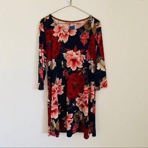Women's lightly worn floral swing dress